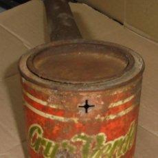 Antigüedades: ANTIGUO FUMIGADOR DE PUBLICIDAD. CRUZ VERDE. ORIGINAL. CON BOTE. VER FOTOS. Lote 80086765