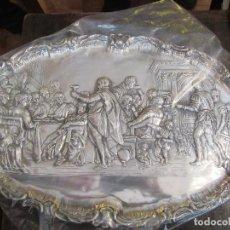 Antigüedades: ANTIGUA BANDEJA PLATEADA, BODAS DE CANAÁN. Lote 80087905