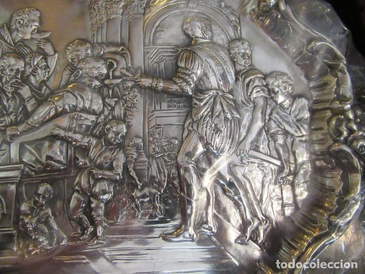 Antigüedades: ANTIGUA BANDEJA PLATEADA, BODAS DE CANAÁN - Foto 3 - 80087905