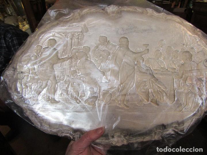 Antigüedades: ANTIGUA BANDEJA PLATEADA, BODAS DE CANAÁN - Foto 5 - 80087905