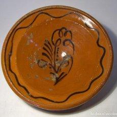 Antigüedades: PLATO DE TERRISSA CATALANA XIX . Lote 80105449