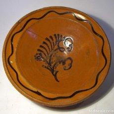Antigüedades: PLATO DE TERRISSA CATALANA XIX . Lote 80105705