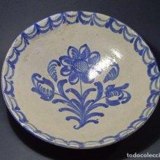 Antigüedades: GRAN PLATO CERÁMICA DE FAJALAUZA XIX . Lote 80106589