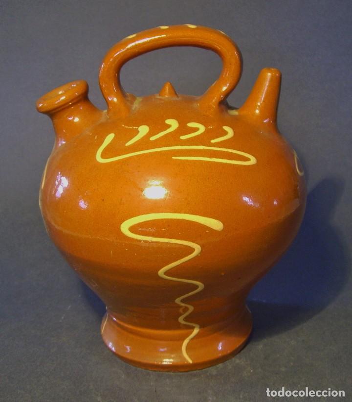 BOTIJO DE TERRISSA CATALANA (Antigüedades - Porcelanas y Cerámicas - Catalana)