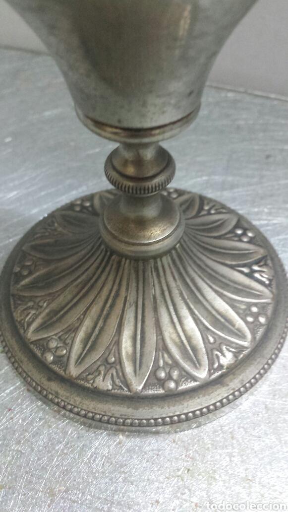 Antigüedades: Quinque Antiguo años 50 níquel con bellos grabados en relieve en base - Foto 4 - 80145846