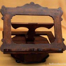 Antigüedades: SENSACIONAL ATRIL EN MADERA DE MEDIADOS DEL SIGLO XIX. Lote 80173717
