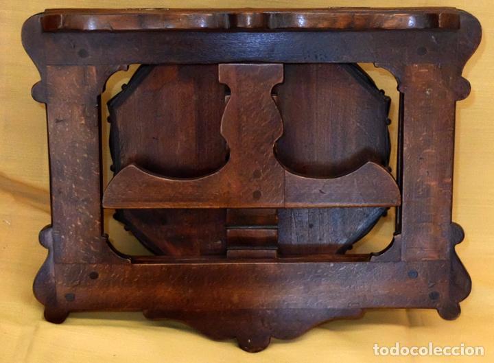 Antigüedades: SENSACIONAL ATRIL EN MADERA DE MEDIADOS DEL SIGLO XIX - Foto 4 - 80173717