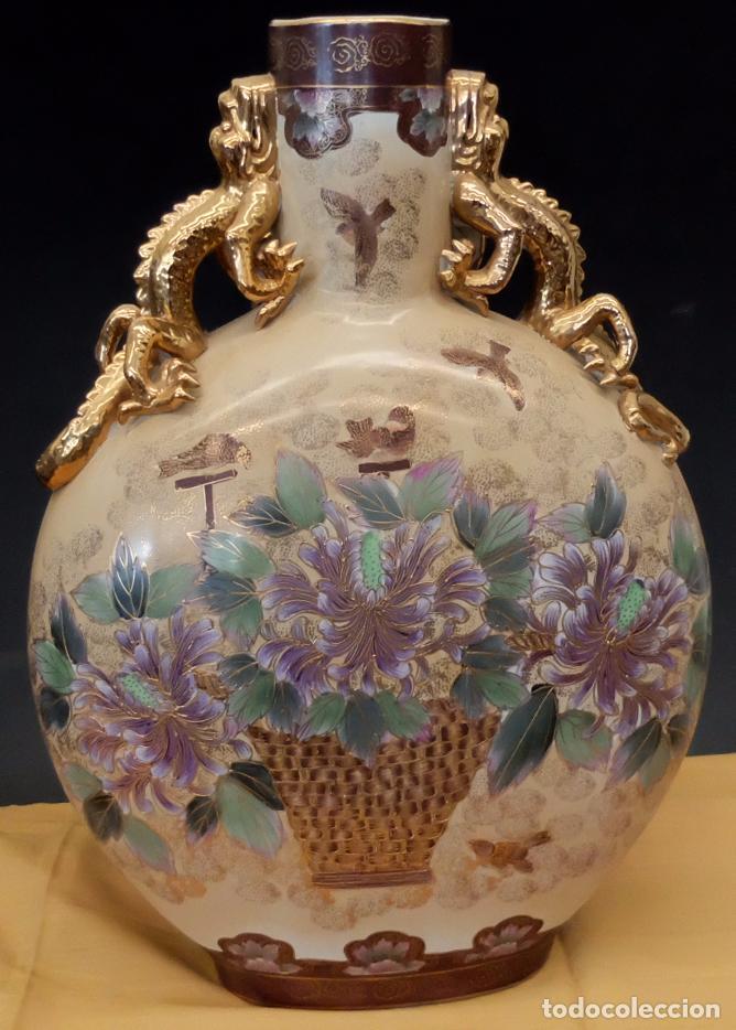 IMPORTANTE JARRON DE MANUFACTURA CHINA. PRINCIPIOS DEL SIGLO XX (Antigüedades - Porcelanas y Cerámicas - China)