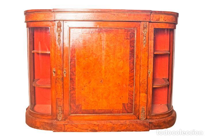 Credenza Con Puertas De Cristal : Antigua credenza aparador trinchante bufe comprar