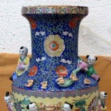 Antigüedades: IMPORTANTE JARRON DE MANUFACTURA CHINA. PRINCIPIOS DEL SIGLO XX. Lote 80188617