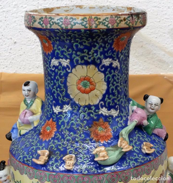 Antigüedades: IMPORTANTE JARRON DE MANUFACTURA CHINA. PRINCIPIOS DEL SIGLO XX - Foto 4 - 80188617