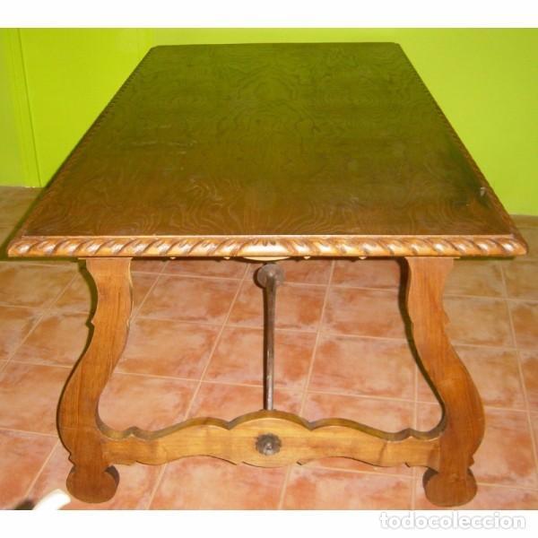 Antigüedades: MESA RENACENTISTA PATA DE LIRA - Foto 2 - 80230561