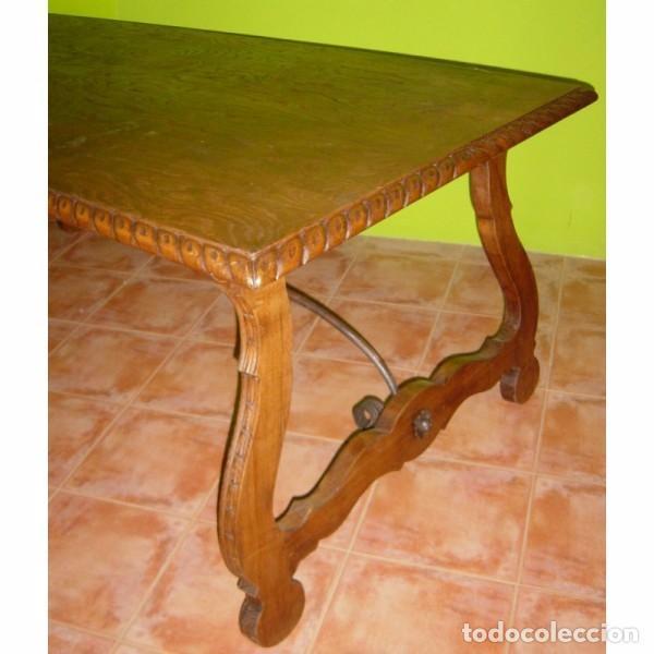 Antigüedades: MESA RENACENTISTA PATA DE LIRA - Foto 3 - 80230561