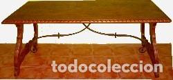 Antigüedades: MESA RENACENTISTA PATA DE LIRA - Foto 4 - 80230561