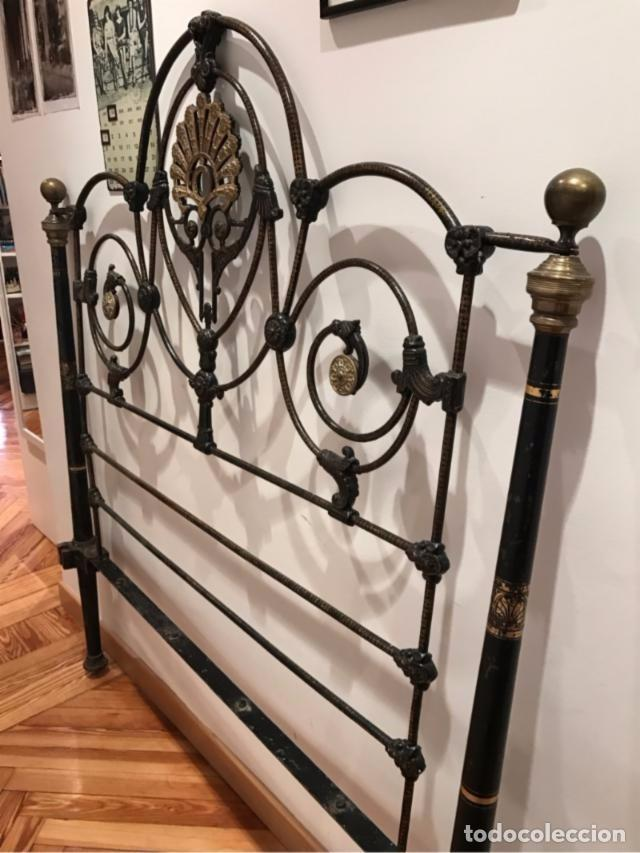 antiguo cabecero de cama en hierro forjado con - Comprar Camas ...