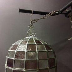 Antigüedades: MUY ANTIGUA Y MUY GRANDE LAMPARA TIFFANY. Lote 80280121