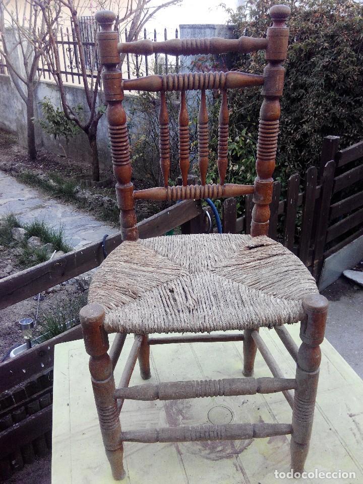 Silla de madera y asiento de esparto antigua p comprar - Restaurar sillas antiguas ...