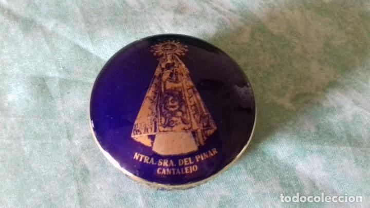 JOYERO DE PORCELANA FIRMADO: ANGULO, ARANDA DE DUERO (BURGOS),AZUL COBALTO CON ORO (Antigüedades - Porcelanas y Cerámicas - Otras)