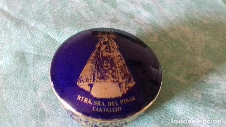Antigüedades: Joyero de PORCELANA FIRMADO: ANGULO, ARANDA DE DUERO (BURGOS),azul cobalto con oro - Foto 2 - 80318261