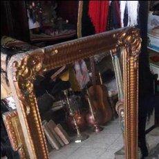 Antigüedades: ESPEJO ANTIGUO MADERA PAN DE ORO. Lote 80345213