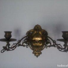 Antigüedades: PAREJA DE APLIQUES DE PIANO.. Lote 80404645