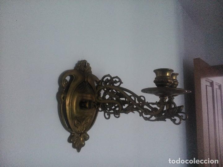 Antigüedades: Pareja de apliques de piano. - Foto 4 - 80404645