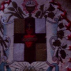 Antigüedades: BELLISIMO Y ANTIGUO ESCAPULARIO SIGLO XIX, SAGRADO CORAZON. Lote 80410029