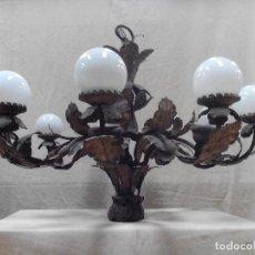 Antigüedades: LAMPARA DE TECHO 10 LUCES -. Lote 80427257