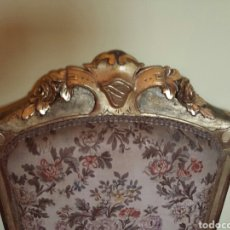 Antigüedades: PAREJA DE SILLONES PAN DE ORO. Lote 80427322