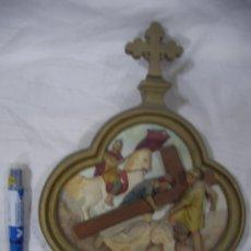 Antigüedades: ANTIGUA REPRESENTACION RELIGIOSA VIA CRUCIS ORIGINAL . Lote 80441237