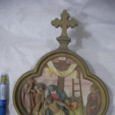 Antigüedades: ANTIGUA REPRESENTACION RELIGIOSA VIA CRUCIS ORIGINAL . Lote 80441753