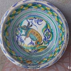 Antigüedades: ANTIGUO LEBRILLO DE TRIANA, PINTADO A MANO. Lote 149529176