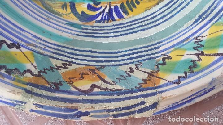 Antigüedades: antiguo lebrillo de triana, pintado a mano - Foto 5 - 149529176