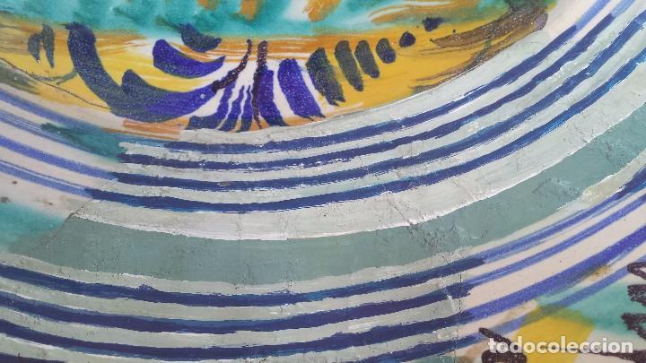 Antigüedades: antiguo lebrillo de triana, pintado a mano - Foto 6 - 149529176