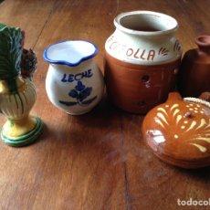 Antigüedades: ARTÍCULOS BARRO ESMALTADO PARA COCINA. Lote 80460713