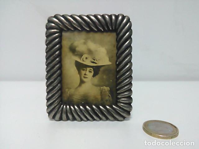 Antigüedades: Portafotos, portaretratos medidas interior 5,5x4,5cm - Foto 3 - 80472629