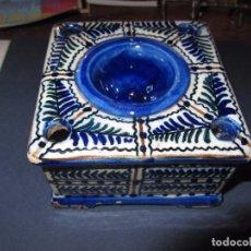 Antigüedades: ANTIGUO TINTERO CERÁMICA MANISES. Lote 80494609
