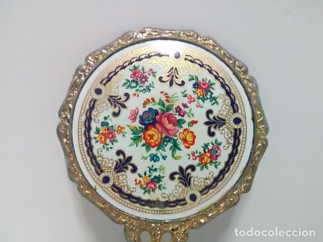 Antigüedades: Pequeño espejo de bolso - Foto 2 - 80502129