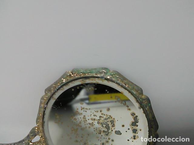 Antigüedades: Pequeño espejo de bolso - Foto 4 - 80502129