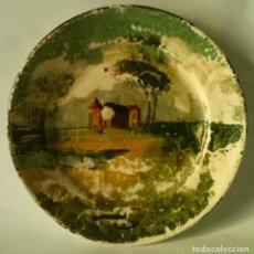 Antigüedades: PLATO DE LOZA DECORADA . Lote 80504941
