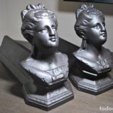 Antigüedades: PAREJA DE MORILLOS DE CHIMENEA. Lote 70800841