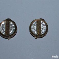 Antigüedades: GEMELOS DE METAL Y NACAR - AÑOS 20-30 - ART DÉCO. Lote 80529677