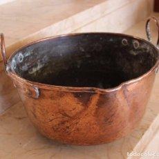 Antigüedades: PRECIOSA OLLA MALLORQUINA DE COBRE. Lote 80530473