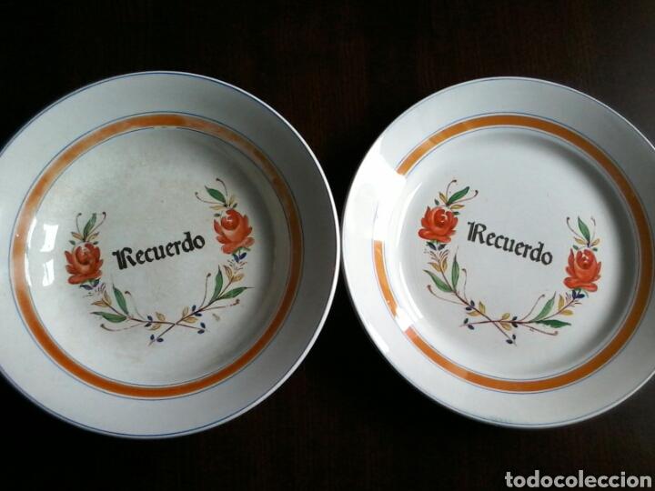 2 PLATOS DE SAN CLAUDIO (Antigüedades - Porcelanas y Cerámicas - San Claudio)