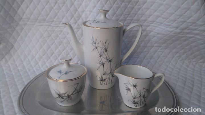 SET DE CAFE CON TETERA O CAFETERA , AZUCARERO Y JARRA LECHERA PONTESA VINTAGE (Antigüedades - Porcelanas y Cerámicas - Santa Clara)