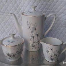 Antigüedades: SET DE CAFE CON TETERA O CAFETERA , AZUCARERO Y JARRA LECHERA PONTESA VINTAGE. Lote 80612614
