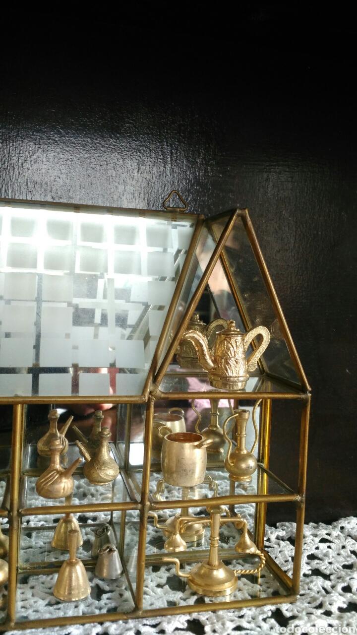 Antigüedades: Mueble miniaturas figuras bronce - Foto 4 - 80619243