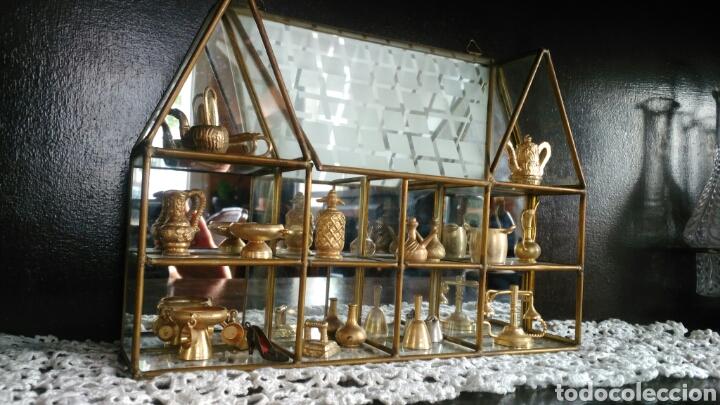Antigüedades: Mueble miniaturas figuras bronce - Foto 5 - 80619243