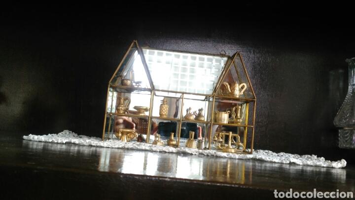 Antigüedades: Mueble miniaturas figuras bronce - Foto 6 - 80619243