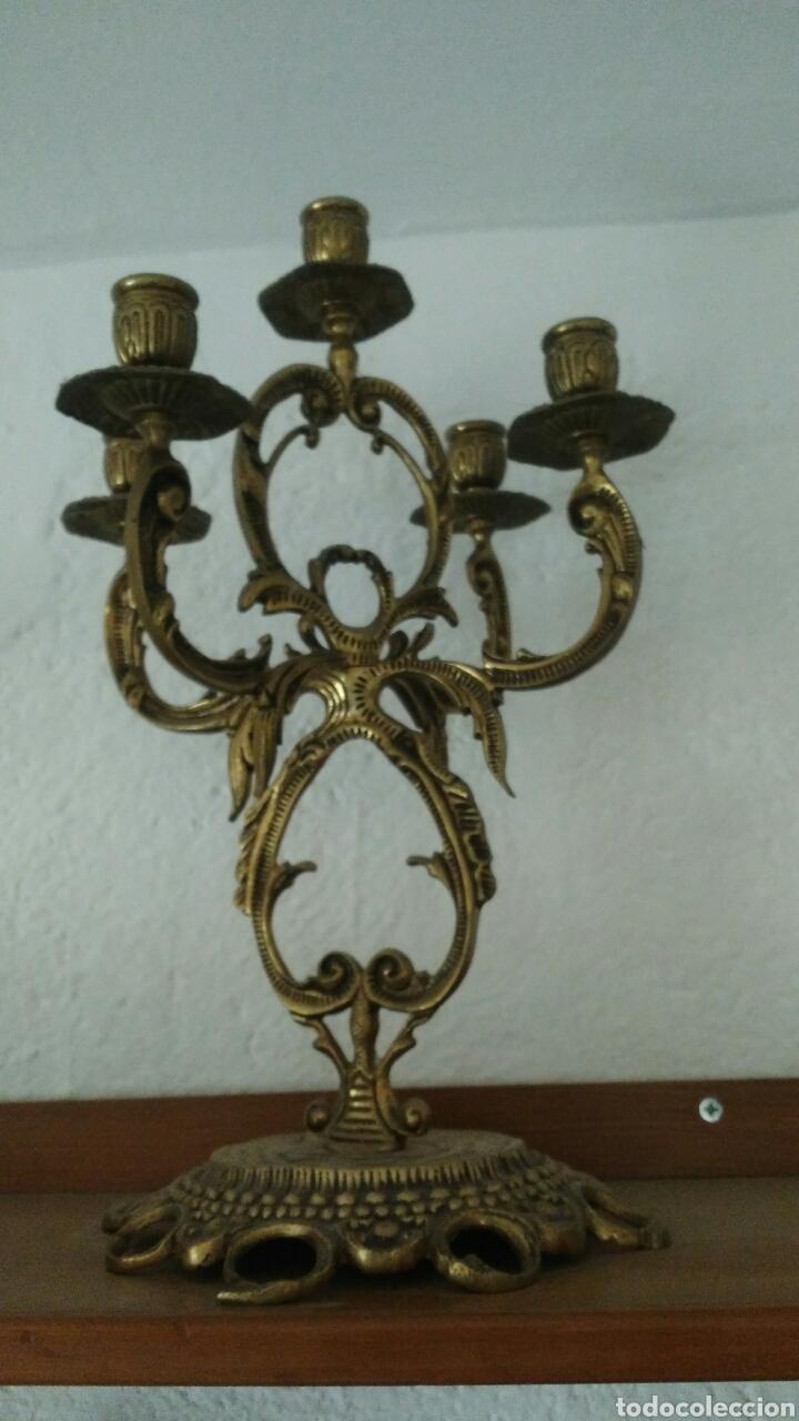 CANDELABRO BRONCE (Antigüedades - Iluminación - Candelabros Antiguos)